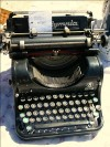 Old typewriter on a flea market in Agde, France, photo by Inga