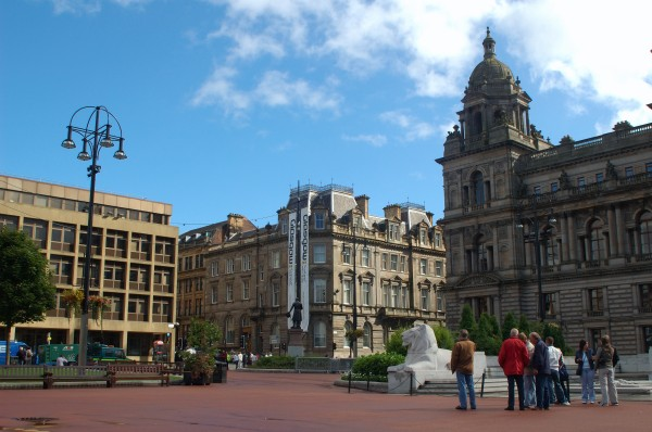 Glasgow United Kingdom  city pictures gallery : City square in Glasgow, United Kingdom, photo by Inga