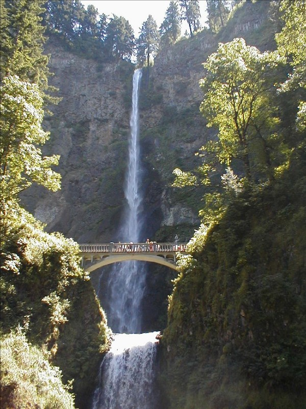 Multnomah Falls in Portland, OR, United States, photo by Linda