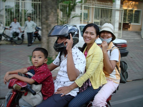 Typical Family Outing in Phnom Penh, Cambodia, photo by Stephen