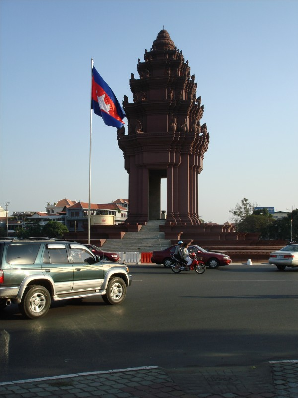 Independence Monument in Phnom Penh, Cambodia, photo by Stephen